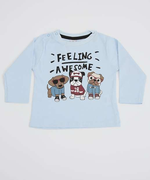 Image_Camiseta Infantil Bebê Estampa Cachorro Manga Longa