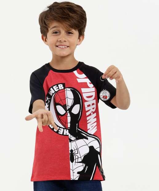 Image_Camiseta Infantil Estampa Homem Aranha Brinde Marvel