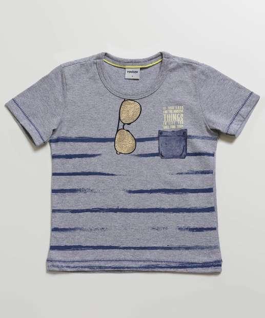 Image_Camiseta Infantil Estampa Listras Manga Curta