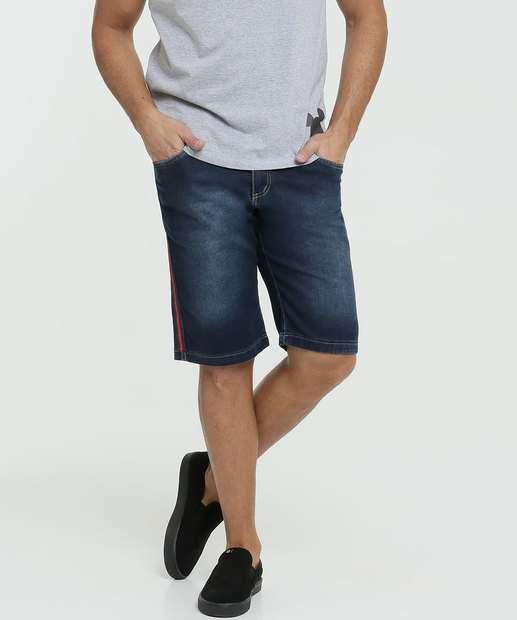 Image_Bermuda Masculina Jeans Bolsos Faixa Razon
