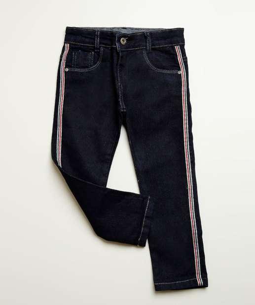 Image_Calça Infantil Jeans Listras