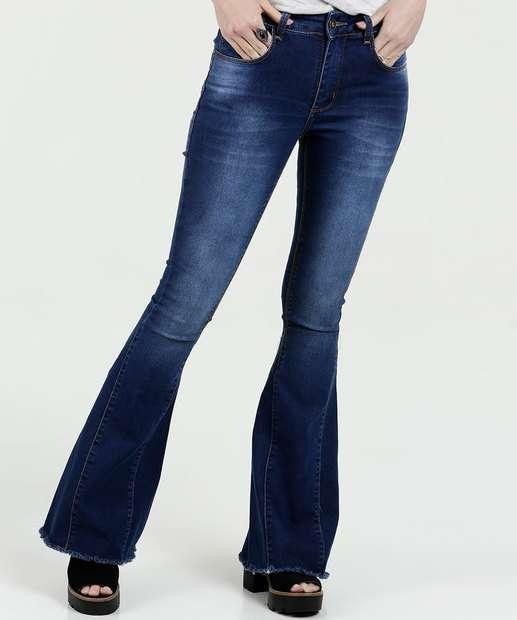 Image_ Calça Feminina Jeans Flare Sawary