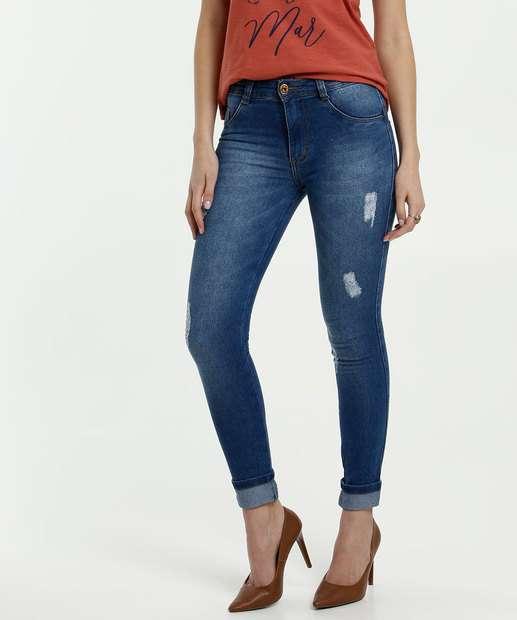 Image_Calça Feminina Jeans Puídos Skinny Biotipo