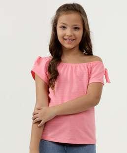 Blusa Infantil Textura Ombro a Ombro Marisa