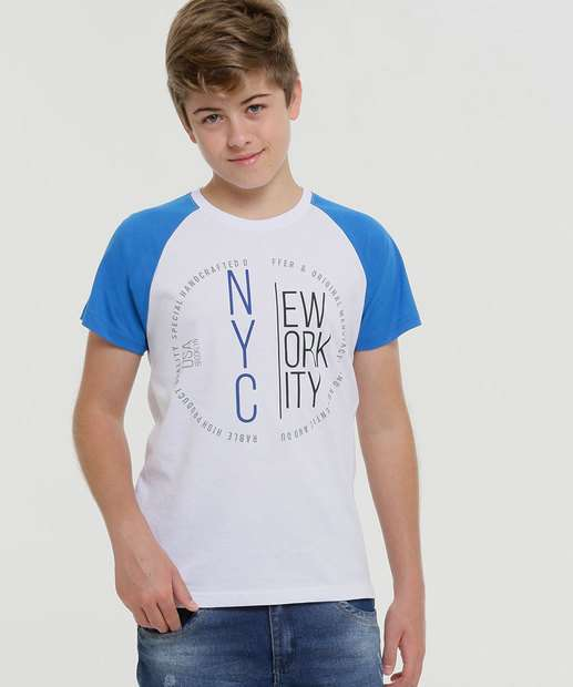 Image_Camiseta Juvenil Estampada Recorte Manga Curta