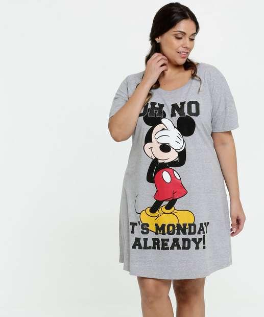 Image_Camisola Feminina Estampa Mickey Plus Size Disney