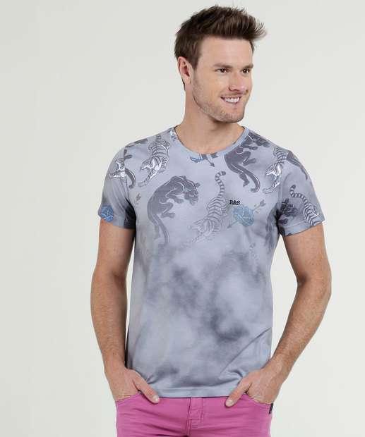 6f29e6854 Camiseta Masculina Estampada Manga Curta Rock   Soda