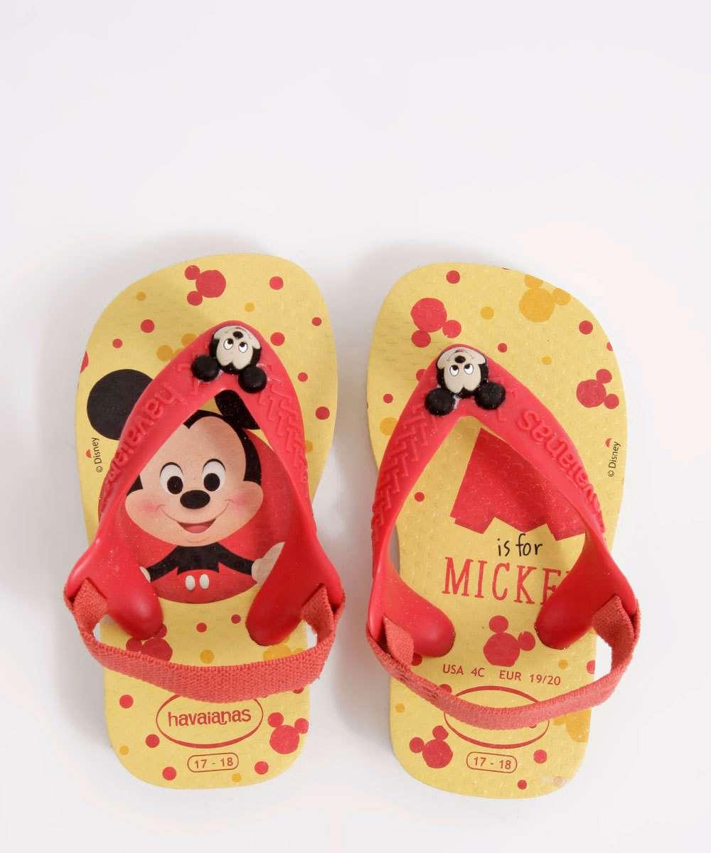 Sandália Havaianas Infantil Mickey Disney