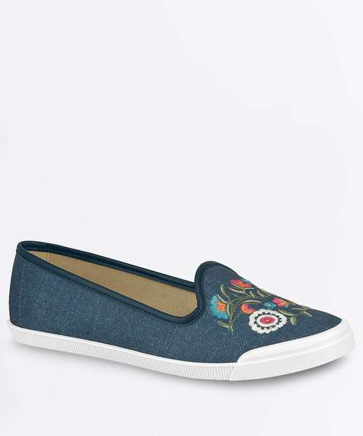 Image_Sapatilha Feminina Slipper Jeans Moleca