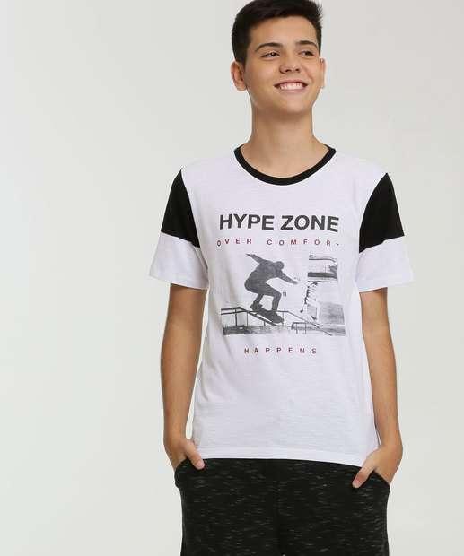 Image_Camiseta Juvenil Recorte Estampa Frontal Manga Curta MR