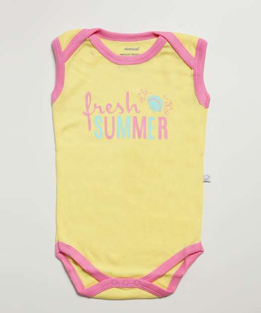 Image_Body Infantil Bebê Estampa Frontal Pimpolho Tam 0 a 8 Meses
