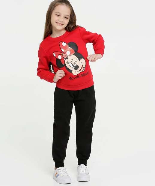 Image_Conjunto Infantil Moletom Estampa Minnie Disney