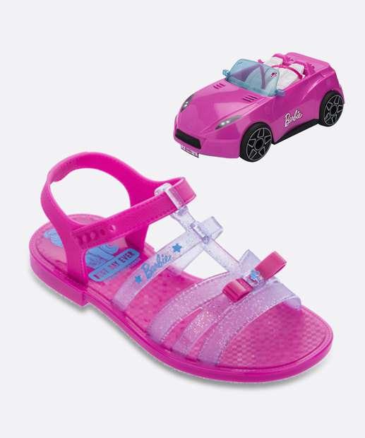 Image_Sandália Infantil Barbie Pink Car Brinde Grendene Kids