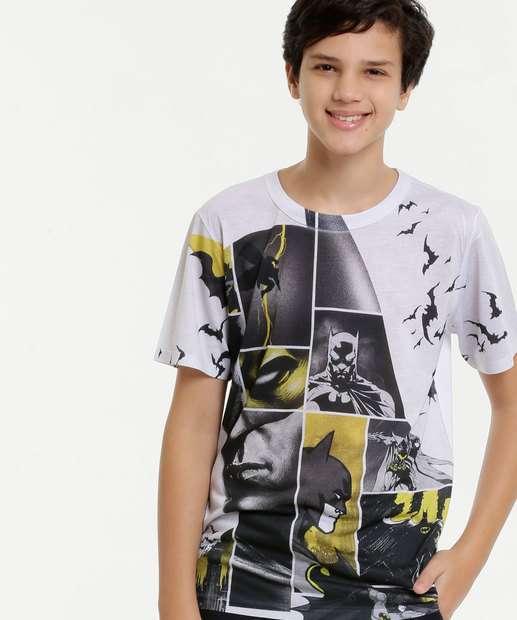 Image_Camiseta Juvenil Estampa Batman Manga Curta Liga da Justiça