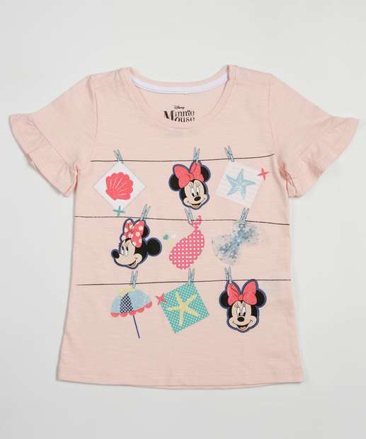 Image_Blusa Infantil Flamê Estampa Minnie Manga Curta Disney