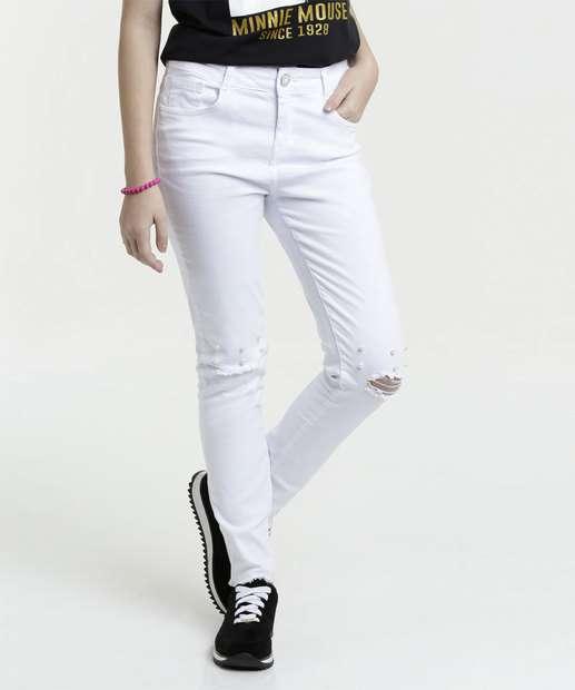 Image_Calça Juvenil Jeans Destroyed Skinny Marisa