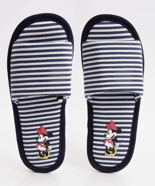 Image_Pantufa Feminina Listrado Estampa Minnie Disney