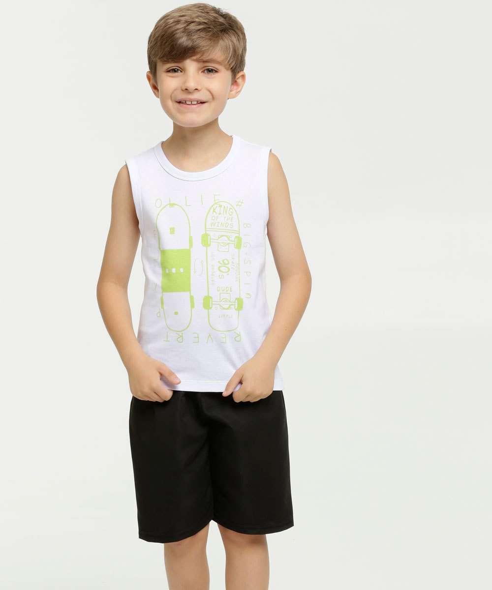 Conjunto Infantil Estampa Skate MR