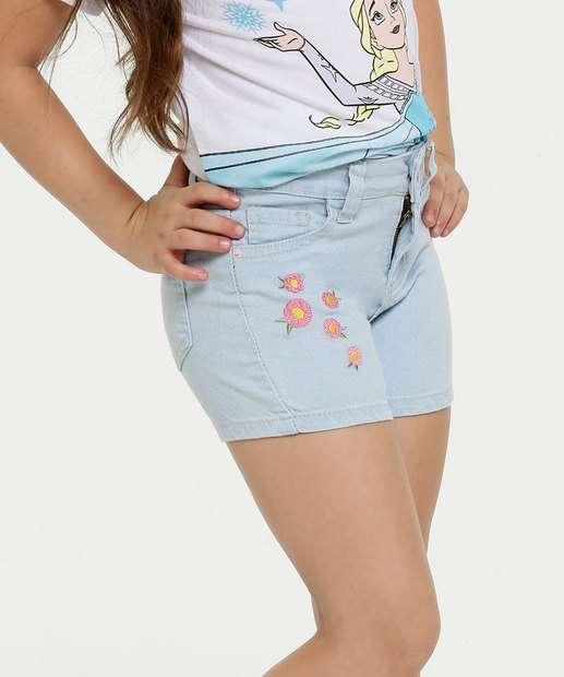 Image_Short Infantil Jeans Bordado Floral Marisa