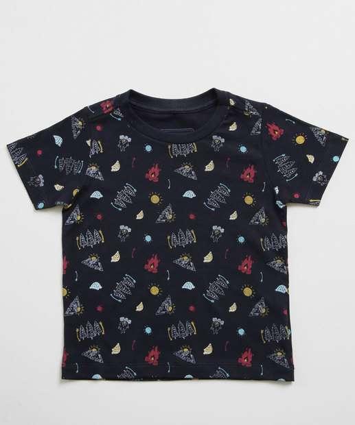 Image_Camiseta Infantil Estampada Manga Curta MR