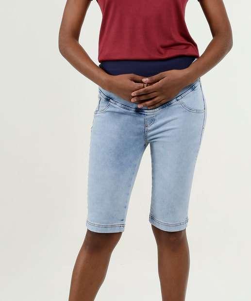 Image_Bermuda Feminina Jeans Stretch Gestante