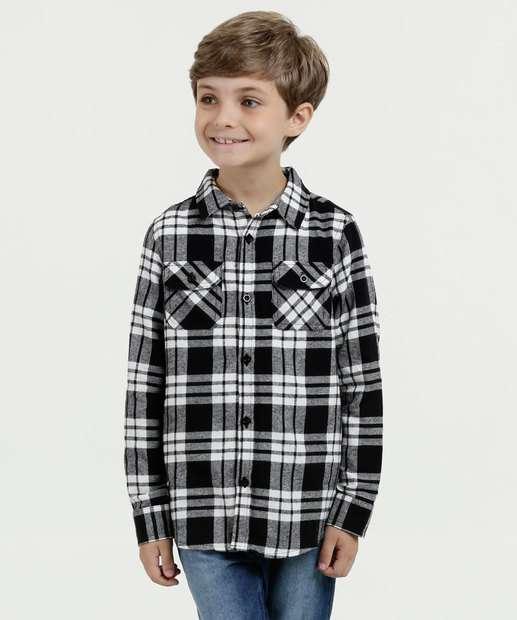 Image_Camisa Infantil Flanelada Estampa Xadrez MR