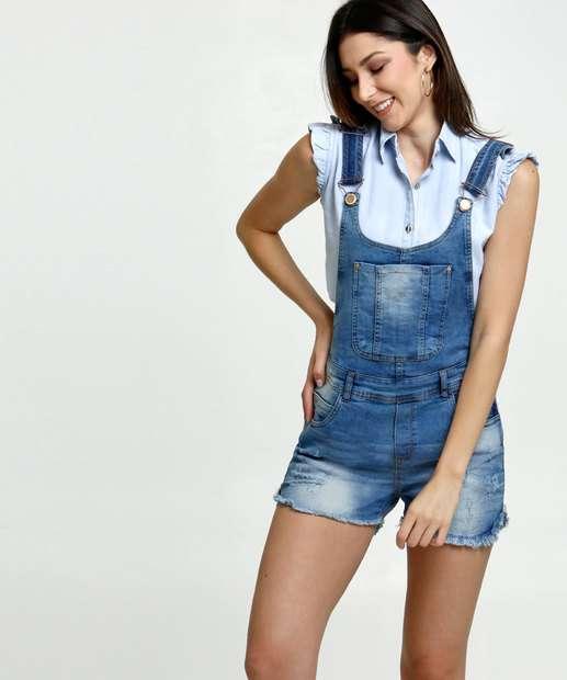 Image_Jardineira Feminina Destroyed Uber Jeans