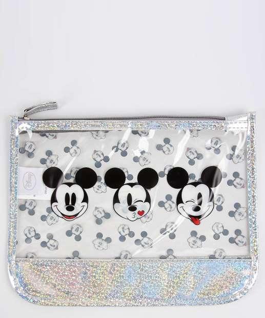Image_Necessaire Feminina Glitter Holográfico Estampa Mickey Disney