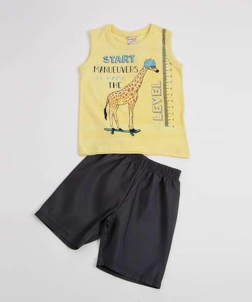 Image_Conjunto Infantil Estampa Girafa Brandili