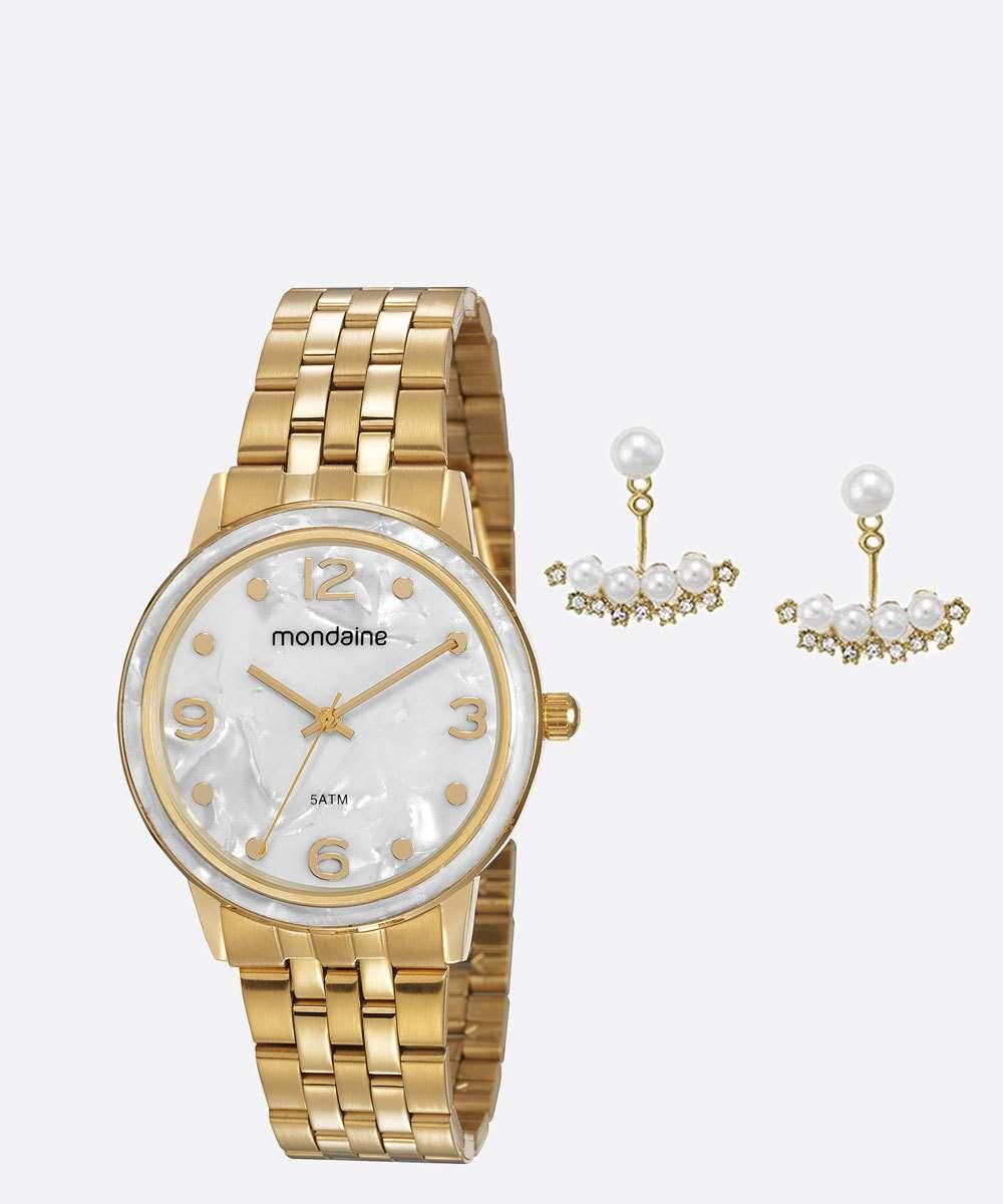 Kit Relógio Feminino Mondaine 53777LPMVDE1