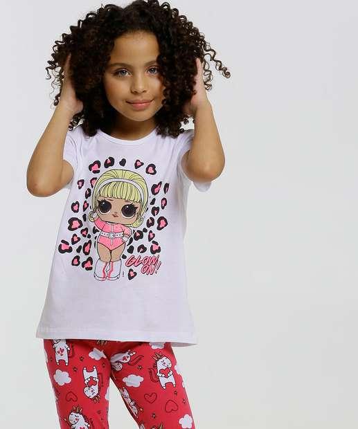 Image_Blusa Infantil Manga Curta Estampa LOL Tam 4 a 10