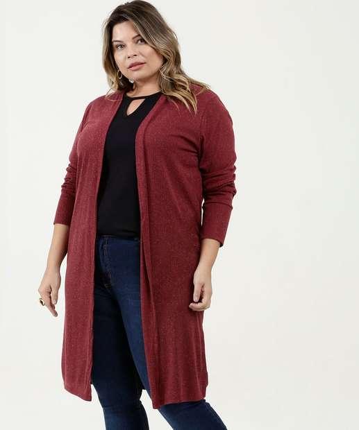Image_Capa Feminina Alongado Canelado Plus Size Marisa
