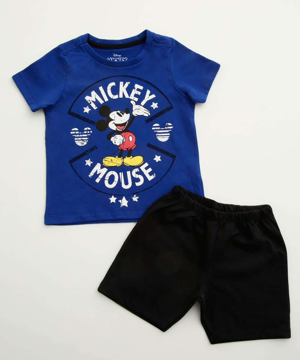 Conjunto Infantil Estampa Mickey Manga Curta Disney