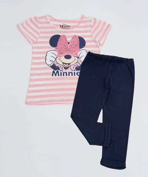 Image_Conjunto Infantil Estampa Minnie Paetês Disney