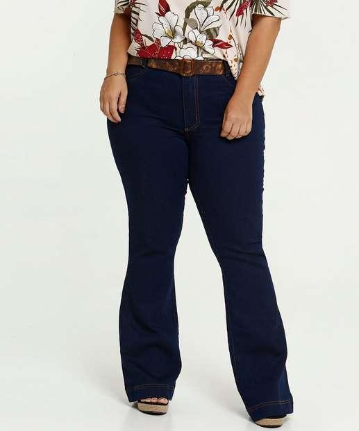 Image_Calça Jeans Flare Feminina Plus Size