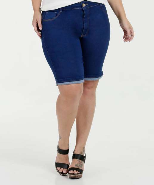 Image_ Bermuda Feminina Jeans Stretch Plus Size Biotipo