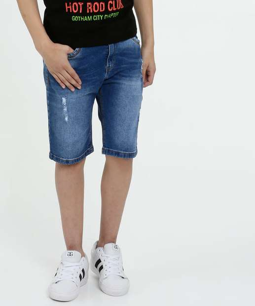 Image_Bermuda Juvenil Jeans Puídos