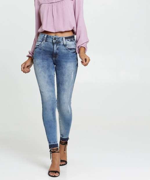 Image_Calça Jeans Stretch Tachas Cigarrete Feminina Biotipo