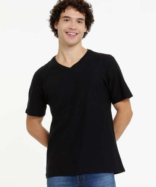 Image_Camiseta Masculina Flamê Manga Curta