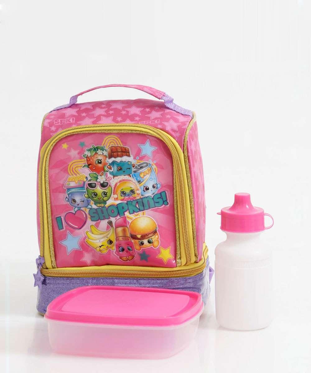 Lancheira Escolar Infantil Estampa Shopkins Xeryus