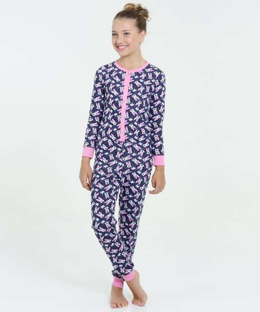 Image_Pijama Infantil Macacão Estampa Minnie Disney