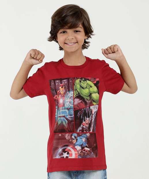 Image_Camiseta Infantil Estampa Os Vingadores Manga Curta Marvel