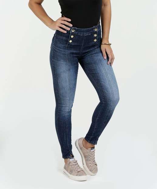 Image_Calça Feminina Jeans Skinny Hot Pants Sawary