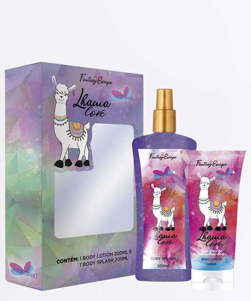 Image_Kit Feminino Body Splash e Loção Corporal Lhama Love Delikad 200ml