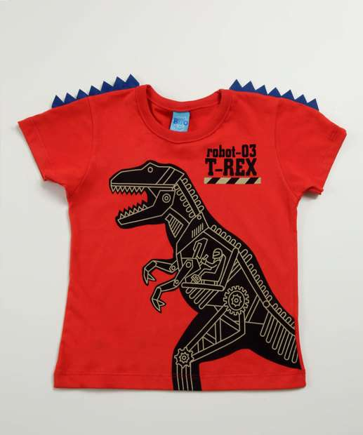 Image_Camiseta Infantil Estampa Dinossauro Manga Curta