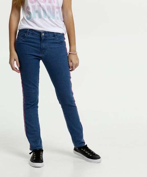 Image_Calça Juvenil Jeans Stretch Faixa Neon Marisa