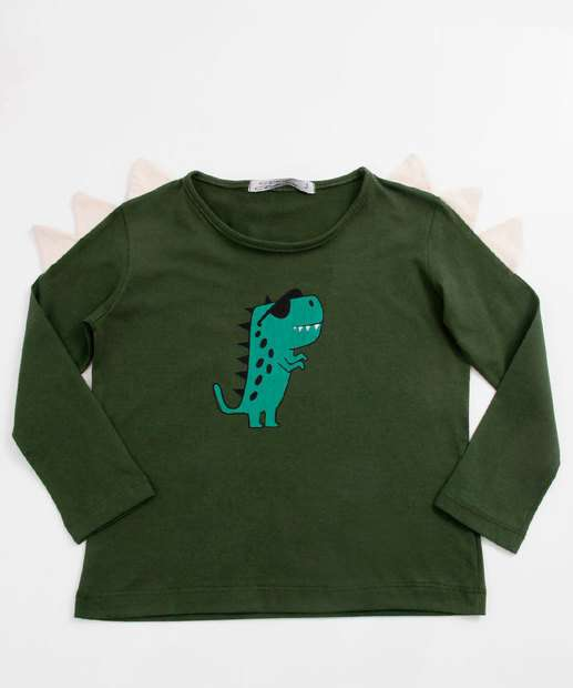 Image_Camiseta Infantil Estampa Dinossauro Manga Longa