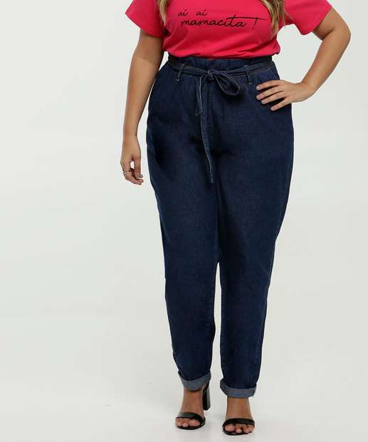 Image_Calça Feminina Jeans Clochard Plus Size Marisa