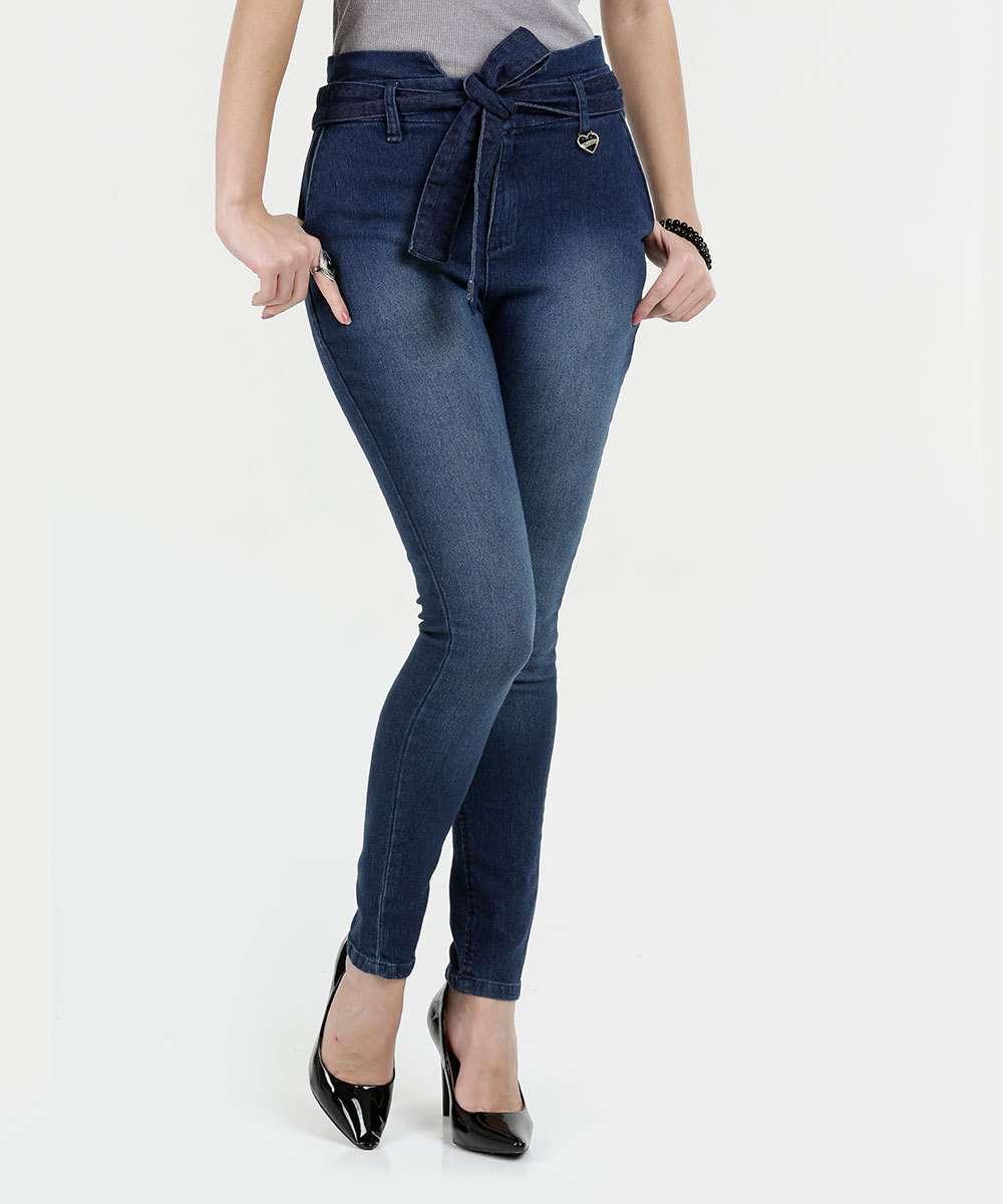 a394b170a Calça Feminina Jeans Skinny Clochard Razon