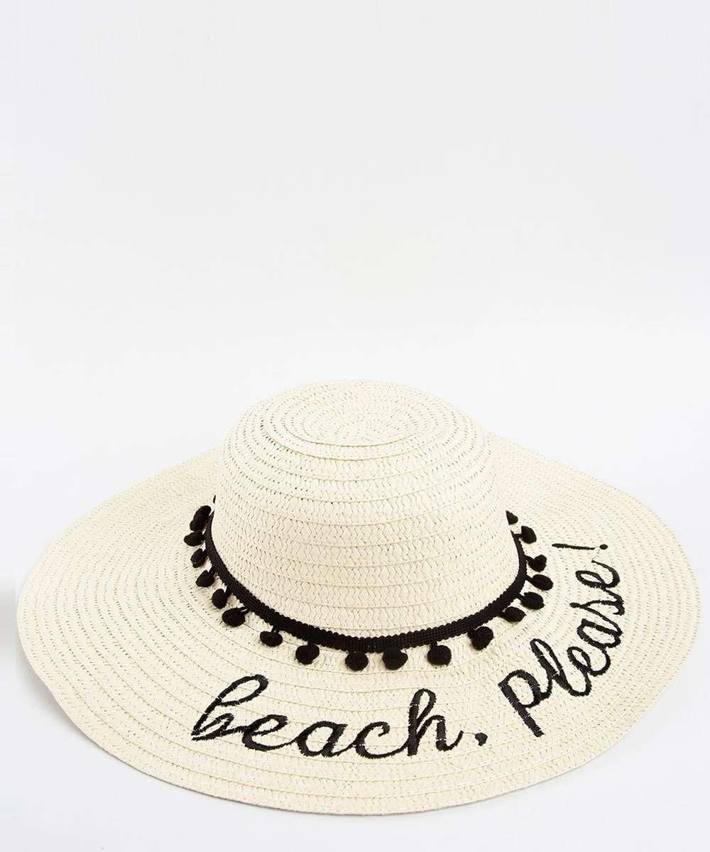 Chapéu de Praia Feminino Pompom Marisa  4c9e4c1e939
